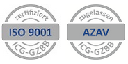 [Translate to English:] Zartifikat ISO9001 und AZAV